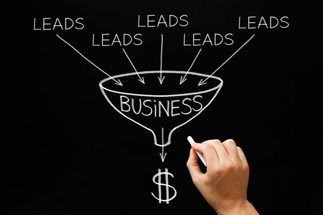 How to get more travel leads and get more guests (showing the sales and marketing funnel image)