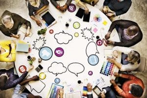 picture depticitng content marketing and using third party content