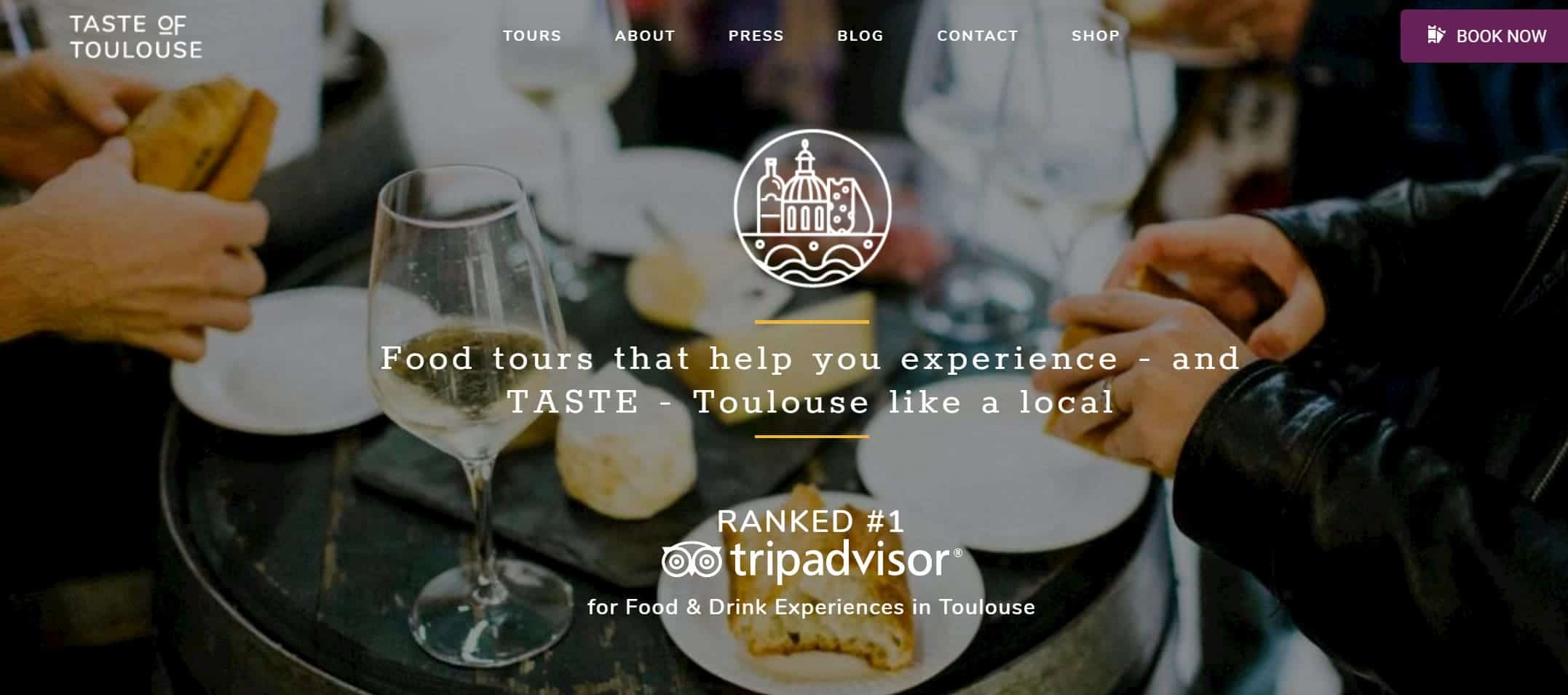 Website image of Taste of toulouse food tour