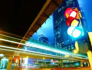 Traffic lights - Red, Yellow, Green to signify the ratings for Core vitals