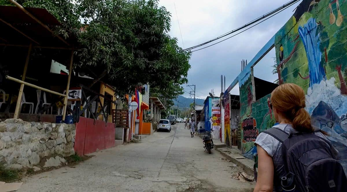 walking through the streets of Minca Colombia