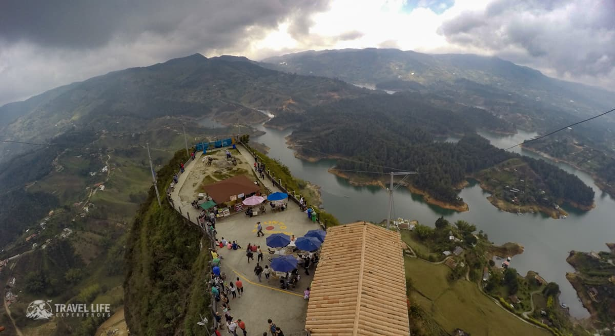 View from the top of La piedra del penol - just outside of Guatape