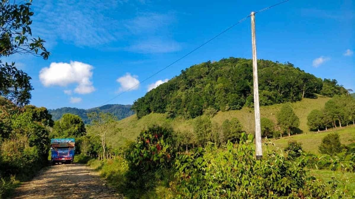 Road from Jardin to Jerico Colombia