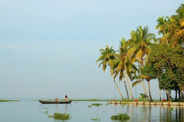 The beaches of Kumarakom - one of the best places to visit in Kerala