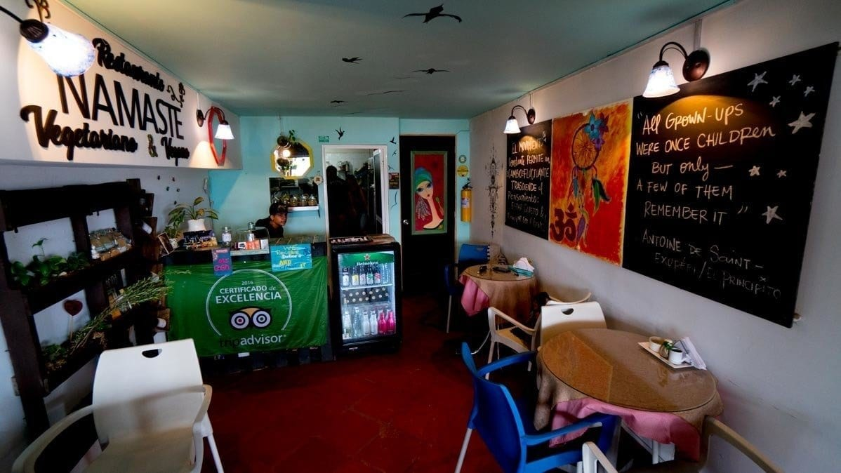 where to eat in Guatape - picture of namaste restaurant