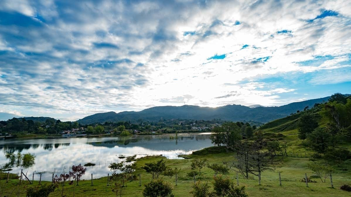 Guatape hotel room view at Lakeview Hostel