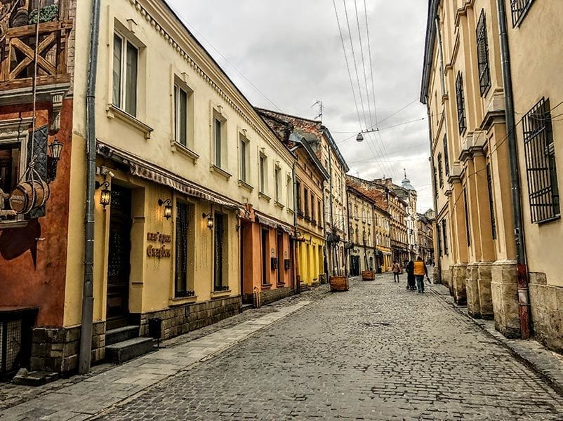 one of the top digital nomad cities to visit: downtown lviv ukraine.